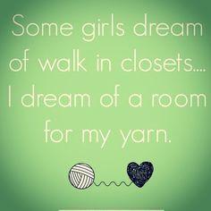 "dottieslove My thought exactly as I ""watch"" HGTV while I am crocheting... Lol #crochet #crocheter #crocheters #crochetersofinstagram #crochetersofig #crochetaddict #dottieslove #etsy #etsyshop #craft #craftroom #walkincloset #somegirls #yarn #dream #craftspace #madewithlove #handmade #mydream #house #myhome"