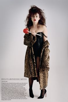 Helena Bonham Carter was among those featured in June 2012's National Treasures shoot - alongside David Attenborough, Patrick Moore and Kate Moss. Photo By Tim Walker