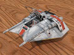 3D Snowspeeder Star Wars Paper Craft   AllFreePaperCrafts.com