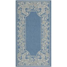 Safavieh Courtyard Blue/ Natural Indoor Outdoor Rug - Overstock™ Shopping - Great Deals on Safavieh 7x9 - 10x14 Rugs