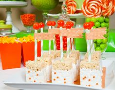 (Orange party 9 of 11 ) Beautiful details—orange dessert table—love this on trend look (& orange isn't my color)❣ Debbie Kennedy • Flickr
