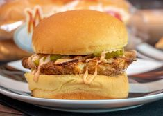 Oven Baked Chicken Sandwiches w/ Homemade Comeback Sauce - Martin's Famous Potato Rolls and Bread | Martin's Famous Potato Rolls and Bread Oven Baked Chicken, Baked Chicken Breast, Martins Potato Rolls Recipe, Comeback Sauce, Chicken Sandwich, Sandwich Recipes, Chicken Recipes, Sandwiches, Food And Drink
