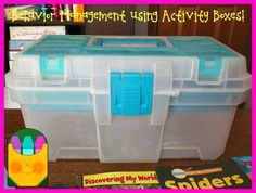 Bright Ideas:  Behavior Management Using Activity Boxes by Crayonbox Learning
