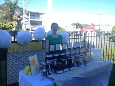 Lisa's debut 3 Aug 2013 at Love Handmade Redcliffe markets, Queensland Australia.