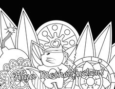 """Motherfucker - Swear Word Coloring Page - Adult Coloring Page - <a href=""""http://Swearstressaway.com"""" rel=""""nofollow"""" target=""""_blank"""">Swearstressaway.com</a> - Comes from the swear word adult coloring book Color & Swear"""