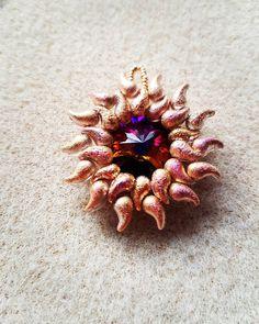 #zoliduo sunburst pendant #BeadsJewelled Zoliduo beads