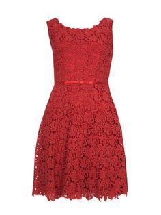 scarlett red lace dress