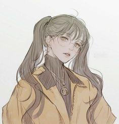 Pretty Anime Girl, Beautiful Anime Girl, Anime Art Girl, Manga Girl, Anime Girls, Girl Cartoon, Cartoon Art, Character Art, Character Design