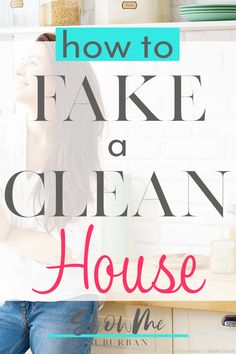 Sometimes you have no time to clean, but you still can't stand the mess. These 6 quick cleaning tips will help make your house feel clean until you have time to do a more thorough job. Great for working women and families! Bathroom Cleaning Checklist, Weekly Cleaning Checklist, Cleaning Tips, Home Management Binder, Family Organizer, Have Time, Clean House, Organizing, Families