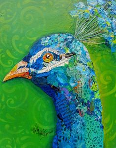 Blue Boy Mixed Media by Kathy Fitzgerald Peacock Canvas, Palette Art, Collage Art Mixed Media, Painted Paper, Canvas Prints, Wall Art, Drawings, Boys, Artwork