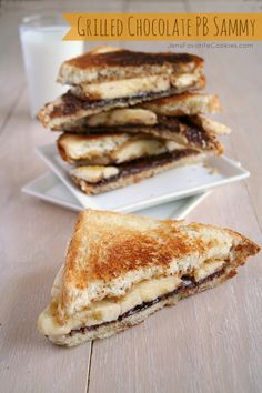 Grilled Chocolate Peanut Butter Sandwich at 101 Amazing Sandwich Recipes