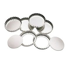 Set of 6 KitchenLooseBottom Tart Tins 10cm versionx6 by DELIAWINTERFEL ** Learn more by visiting the image link.(This is an Amazon affiliate link and I receive a commission for the sales)