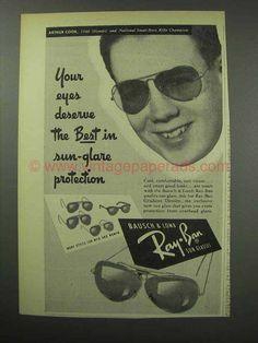 1950 Ray-Ban Sun Glasses Ad - Arthur Cook
