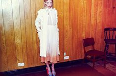 #SportLuxe. #Dress #Coat Mother of Pearl, #Shoes Louise Amstrup. Photographer: Mark Shearwood Styling: Guy Hipwell