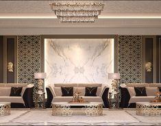 Luxury apartment design on Behance Hall Interior, Apartment Interior, Apartment Design, Ceiling Design Living Room, Living Room Tv Unit Designs, Lobby Design, Design Design, Room Partition Designs, Luxury Interior Design