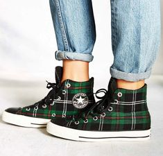 Converse Tartan Chuck Taylors 65 50 Jazzy Pairs Of Sneakers Under 100 Top Shoes, Cute Shoes, Me Too Shoes, Converse All Star, Converse Shoes, Custom Converse, Converse High, Shoes Sneakers, Chuck Taylors