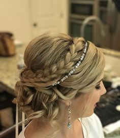 """Soft updo by Salon Maison (@salonmaisoninc) on Instagram: """"Congratulations to the beautiful Lauren today getting married @serendipity_weddings. Thank you for…"""""""