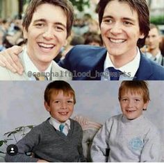 AWWWWW!!! Young James and Oliver Phelps. They are adorable!!!!