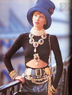 'C'est Paris' from……………..Vogue Italia September 1992 feat Christy Turlington & Nadege du Bospertus *Full credit goes to lylascans