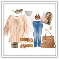 """""""Muted Peach and Caramel"""" by pamnken on Polyvore"""