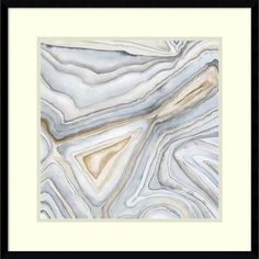 Megan Meagher 'Agate Abstract I' Framed Art Print 23 x 23-inch