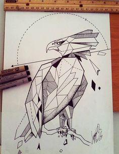 Confira este projeto do @Behance: \u201cGeometric Eagle\u201d https://www.behance.net/gallery/38140383/Geometric-Eagle