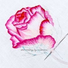 Hand Embroidery Tutorial, Watercolor Tattoo, Tattoos, Embroidered Flowers, Powerful Quotes, Needlepoint, Paint, Chinese Embroidery, Tatuajes