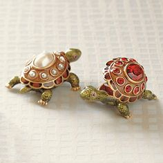 Jay Strongwater Turtle Birthstone Boxes | Gump's