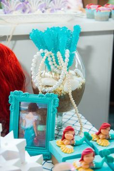 The Little Mermaid themed birthday party with Lots of Cute Ideas via Kara's Party Ideas