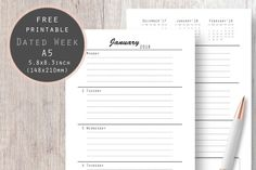 Dated Week Planner #weeklyplanner #weeklyplannerpages #shedule #weeklydated