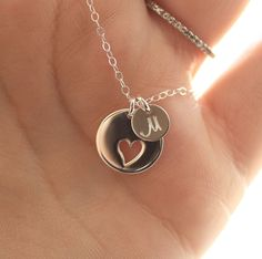 Personalized Mother's Necklace Sterling Silver by BijouxbyMeg, $34.00