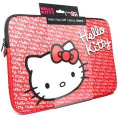 Red Hello Kitty Laptop Sleeve