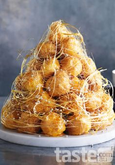 croquembouche this is apparently very tradition and Josh's favorite. but it would be like 3 feet tall.
