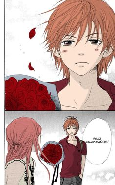 Lovely Complex (It says happy birthday) Awesome Anime, Anime Love, Anime Guys, Manga Anime, Anime Art, Lovely Complex Anime, Otaku, Manhwa, Desenhos Love