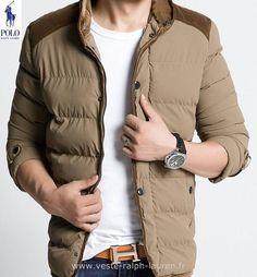 Polo officiel - polo Ralph Lauren hommes manteau 2015 modeles cotee  discount brun Doudoune Ralph Lauren Pas Cher Femme 4b0da9796cd5