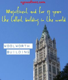 This is one of the most beautiful buildings in NYC. The #WoolworthBuilding in Lower Manhattan. For exclusive tours check @woolworthtours !  #nycandtours #turistinewyork #sightseeing #concierge #tourism #welcometonewyork #multilingual #ganyc #licensed #tourguides #newyork #seemycity #newyorkcity #nyc #nyctours #nyctourist #nyctourism #lowermanhattan