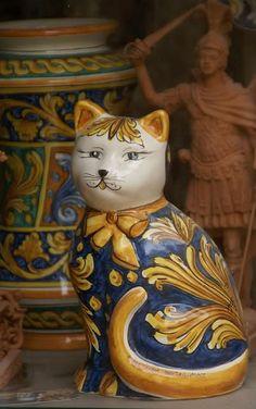 Ceramic Italian Cat