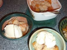 """Better Homes and Gardens """"Peach Cobbler"""" recipe, with Jules Gluten Free Flour; the world would never know it GF"""