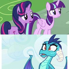 In Ember's mind when she saw Twilight Sparkle and Starlight Glimmer My Little Pony Poster, My Little Pony List, My Little Pony Comic, My Little Pony Drawing, My Little Pony Pictures, My Little Pony Friendship, Mlp Twilight, Twilight Sparkle, Filles Equestria