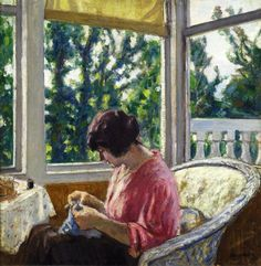 Albert André ( 24 May 1869 – 11 July 1954) was a French Post-Impressionist. Young woman sewing 1913