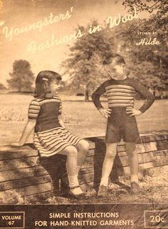 Vintage Youngsters' Fashions in Wool Styled by от baldyhillvintage