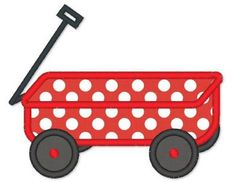 WAGON Applique Machine Embroidery Design by LynniePinnie Tricycle, Applique Designs, Machine Embroidery Designs, Applique Ideas, Red Wagon Party, Little Red Wagon, Vinyl Designs, Baby Boy Shower, Baby Quilts