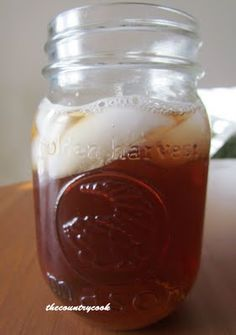 Sweet Tea {the only way I'll drink it!} Cocktail Drinks, Summer Drinks, Cold Drinks, Non Alcoholic Drinks, Refreshing Drinks, Fun Drinks, Beverages, Cocktails, Drink Me