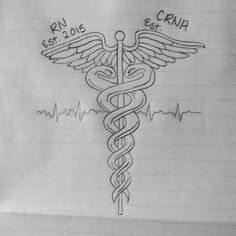 Nurse tattoo I drew up for myself, I think I'm gonna get it (: