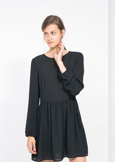 Vestido falda vuelo - Vestidos de Mujer | MANGO