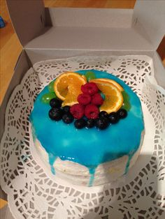 Ovocný dortik s tvarohovou naplní