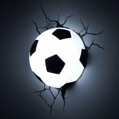 Fussball Deko leuchtend Hause fußballfans wandlampe
