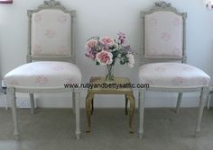 Chairs painted in Farrow and Ball's French Gray