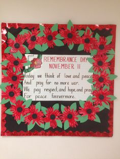 "Remembrance Day ""recipe for peace"" - case Remembrance Day Poems, Remembrance Day Activities, Veterans Day Activities, Remembrance Poppy, Senior Activities, Poppy Craft For Kids, Art For Kids, Paper Plate Poppy Craft, Preschool Crafts"