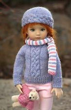 """""""PLAITED & PRECIOUS""""--OOAK Sweater Set for Effner's 13"""" Little Darling"""